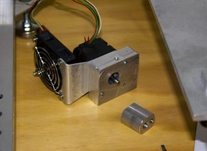 reprap CNC machined Stepstruder plastistruder