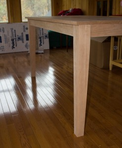 A shaker inspired dining table