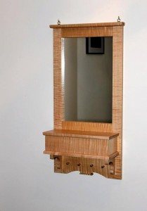 Figured Maple Hallway Mirror