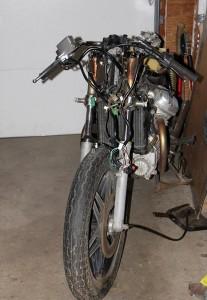 Clubman handlebars on Honda CX500