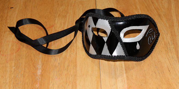 Finished Colombina Venetian Mask