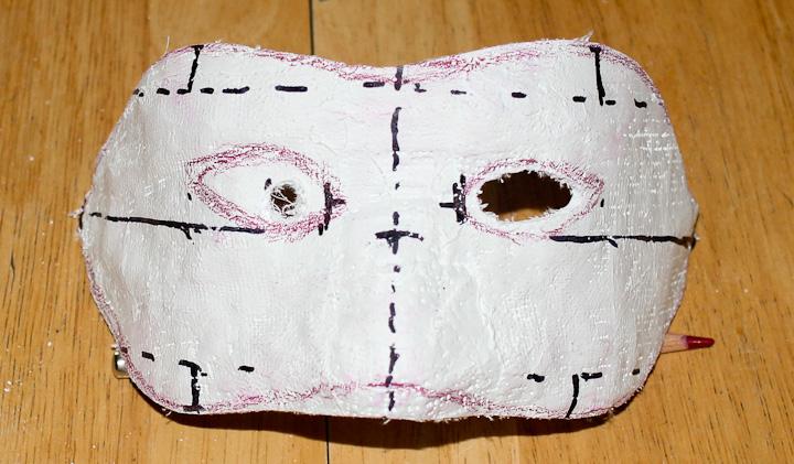 Маска на хэллоуин  из бумаги видео 138