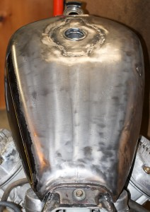 CX500 Cafe Racer fuel tank swap
