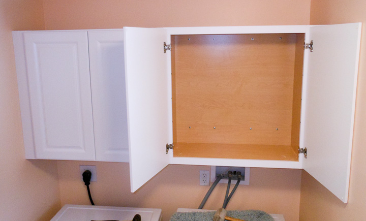 Tips on hanging cabinets