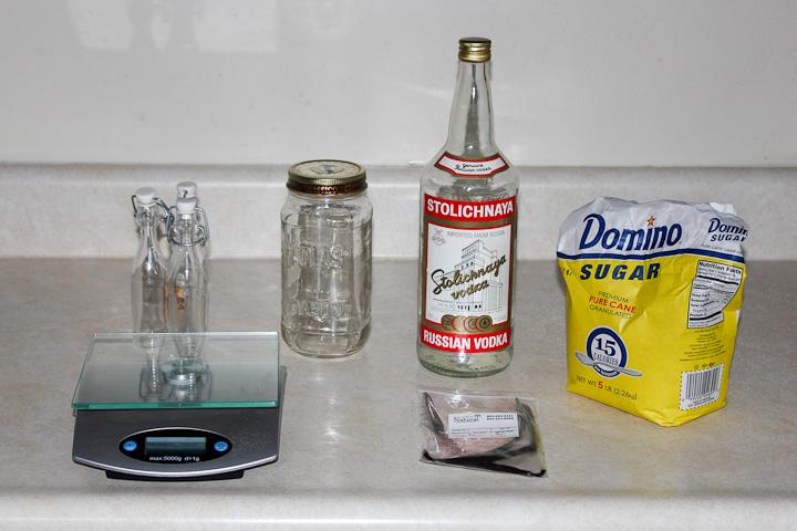 ingredients needed to make vanilla extract and vanilla sugar