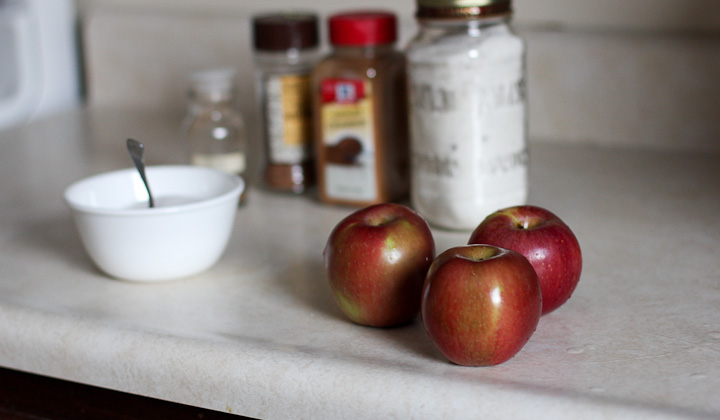 ingredients used to make apple chips
