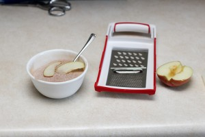 using a kitchen slicer to make thin apple chips