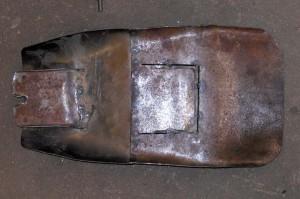 underside of cafe racer seat pan