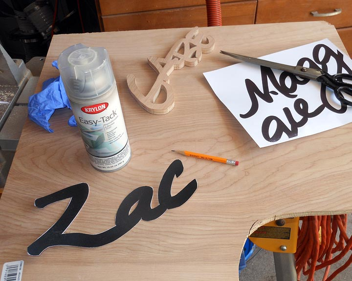 wood sign making templates - wooden name signs projects by zac