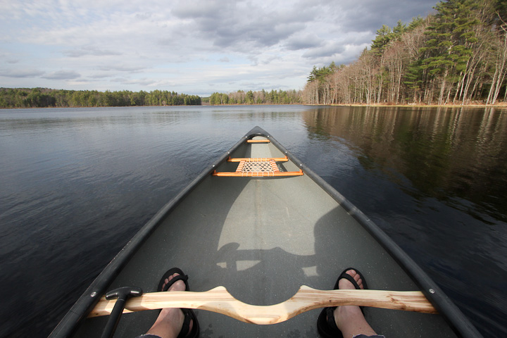 Maiden voyage of my Canoe with the new wooden Canoe yoke on projectsbyzac.com