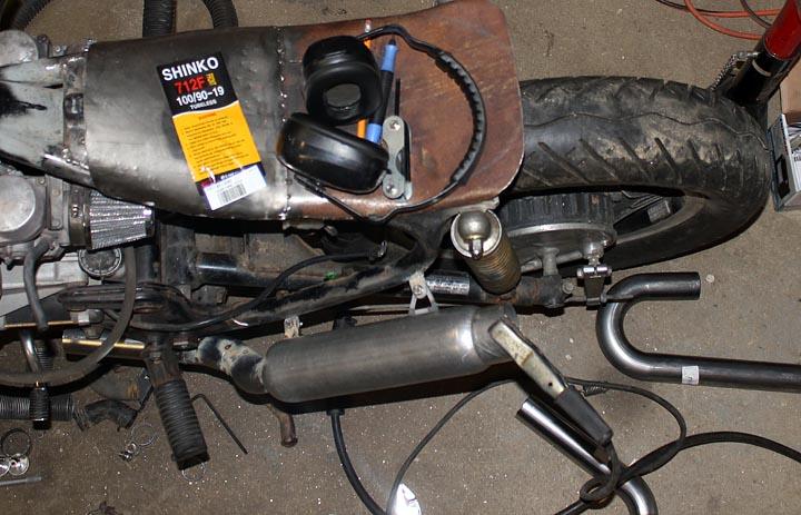 Cafe Racer Exhaust Build Muffler Mounting