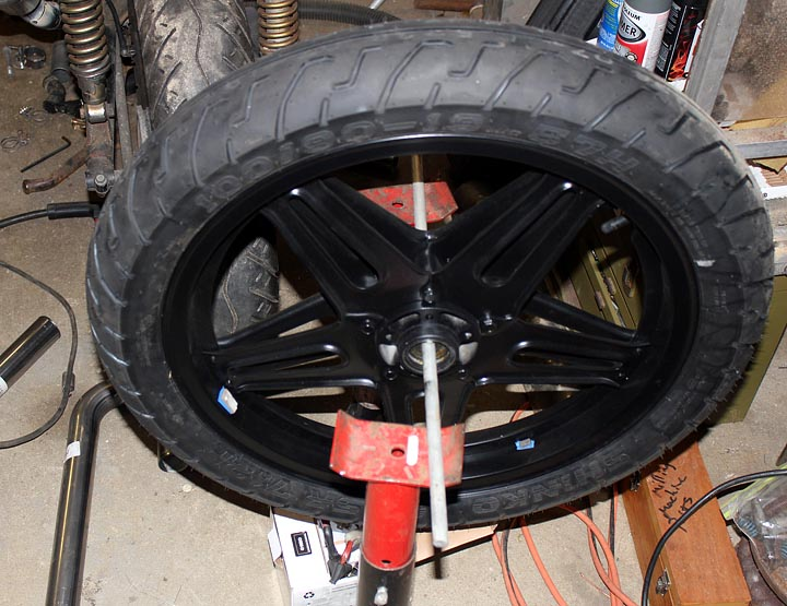 Mounting and Balancing a CX500 motorcycle tire