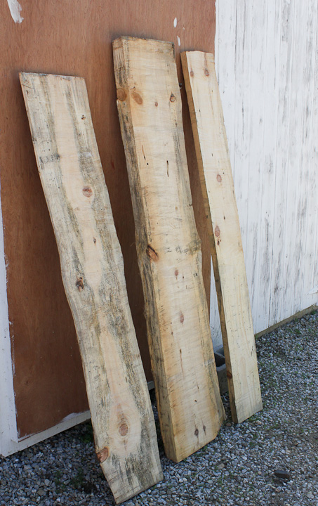 rough sawn boards from alaskan sawmill