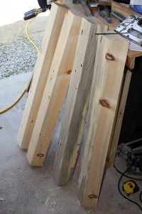 how to make a Canoe stand - top boards