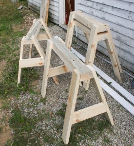 Stacking sawhorse plans