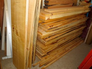 Leave planed lumber a bit oversize till you are ready to use it.