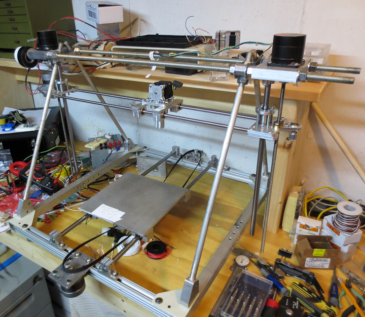 Reprap 3d printer progress