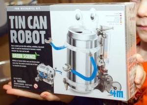 Tin Can robot in the box