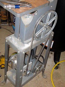 DIY metal cutting bandsaw conversion speed reduction
