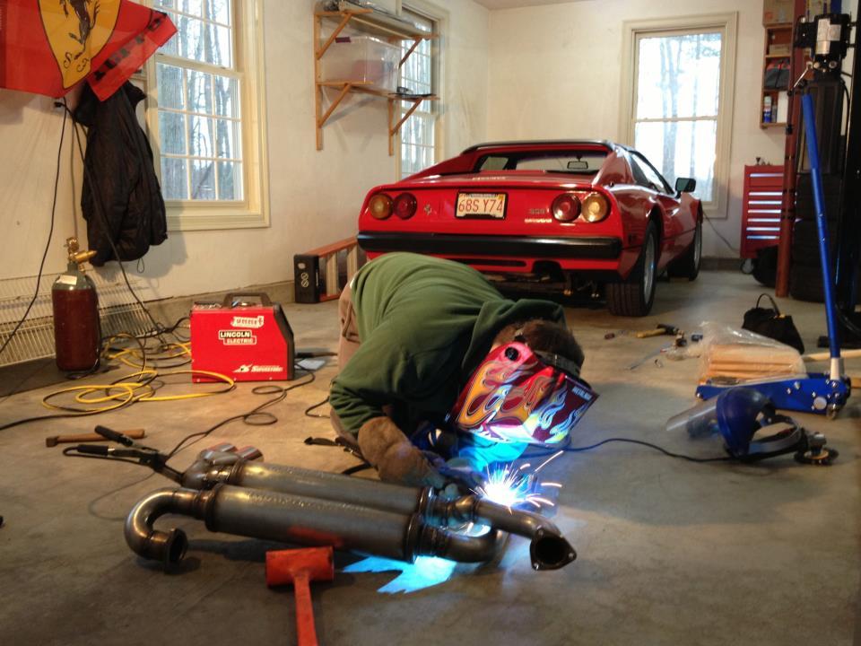 ferrari 308 custom exhaust