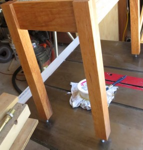 How to make a cherry end table -2212