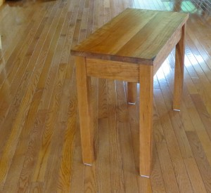 How to make a cherry end table -2216