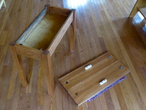 How to make a cherry end table -2220
