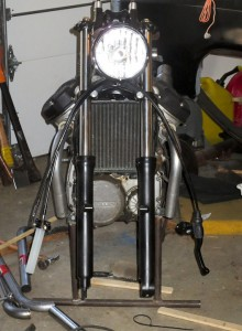 CX500 exhaust Cafe Racer build