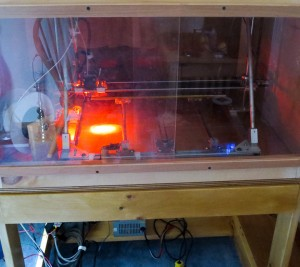 3D printer LED lighted print head  -8274