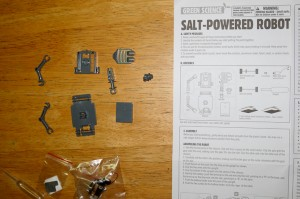 Salt Water Powered Robot Kit-7753