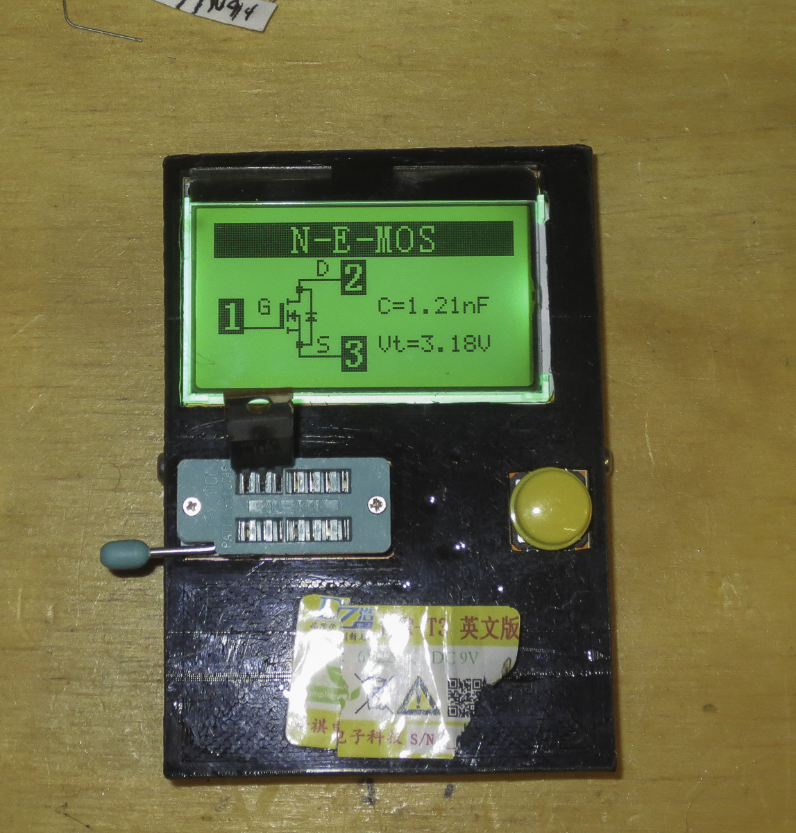 Electrical component tester