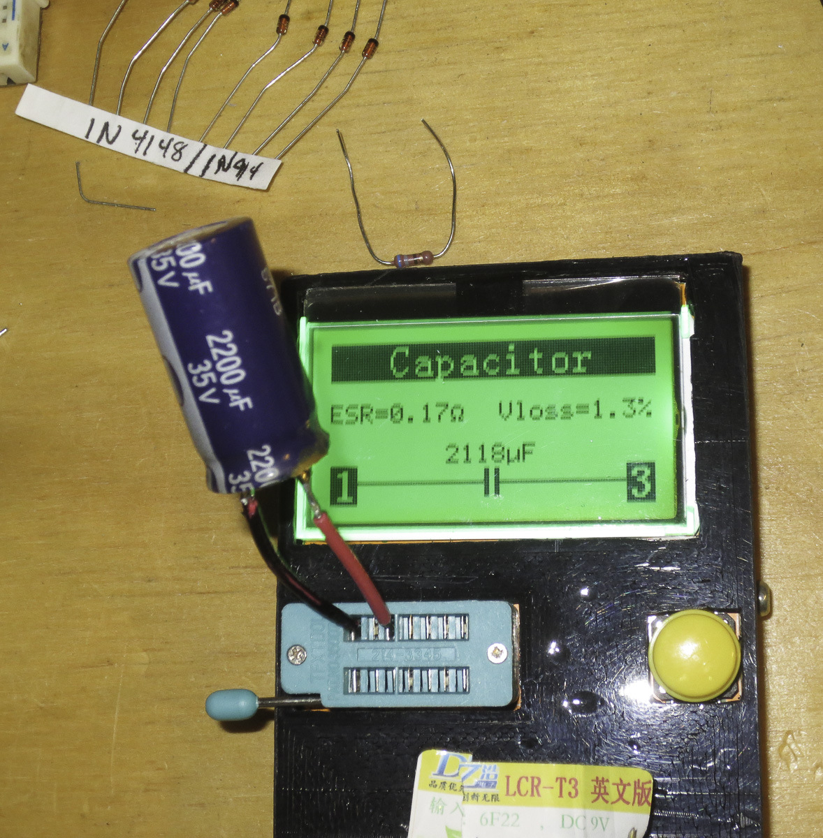 Zac Page 2 Projects By Home Panavise Large Circuit Board Holder Measure Resistors Capacitor Tester