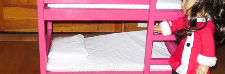Tips for furniture finishing demonstrated on the American Girl Doll Bunk Bed I made