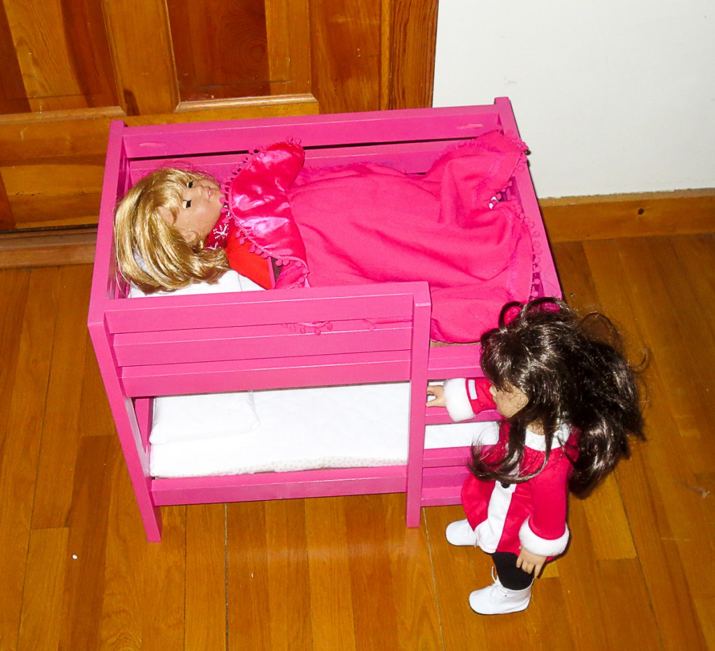 DIY American Girl Doll Bunk Bed