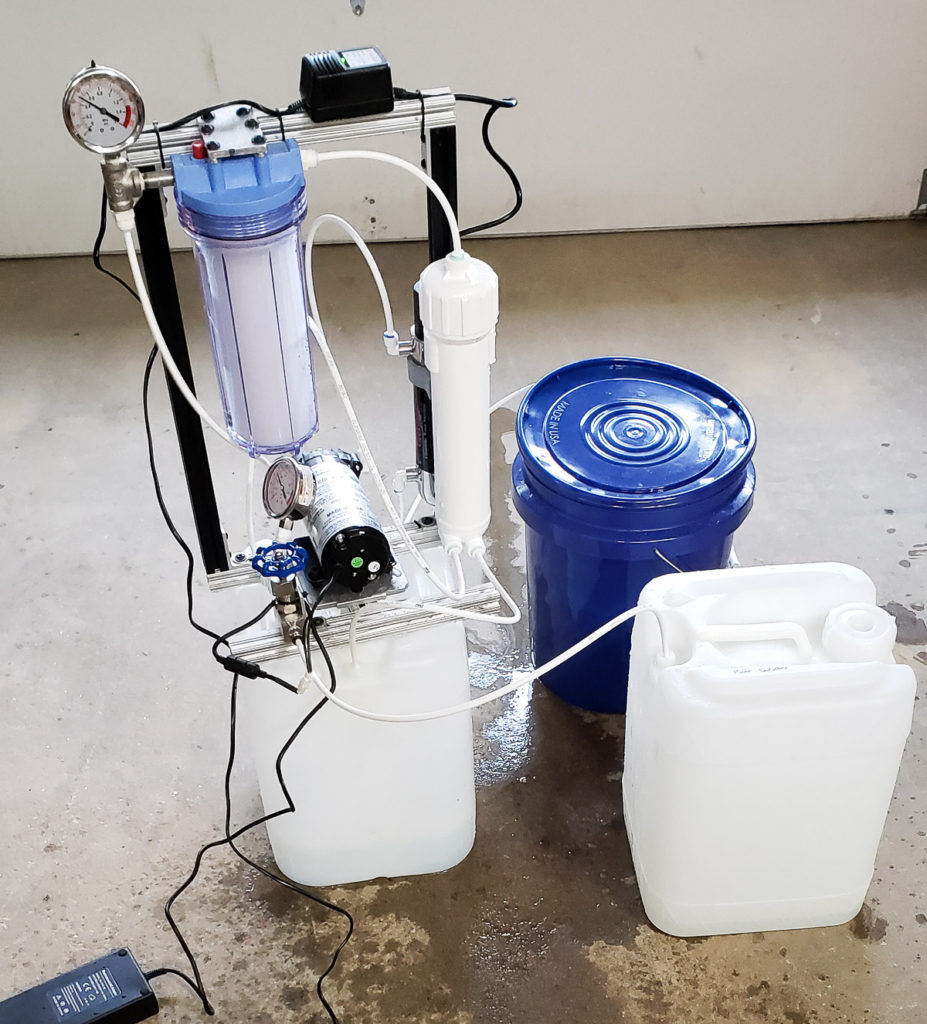 DIY Reverse Osmosis for batch process of Maple Sap to remove water before boiling it into Syrup